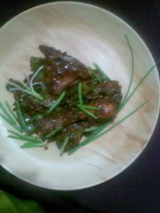 low fat chilly chicken Indo chinese style