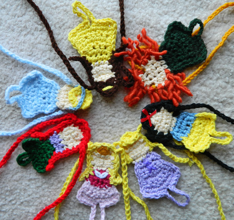crochet d lane: Disney Princess Barefoot Sandals
