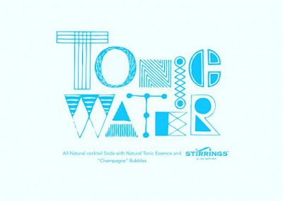 Miriam Altamira designed water bottles-tonic water