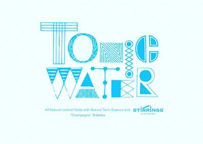 Miriam Altamira designed water bottles-tonic water