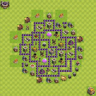Formasi Base Clash of Clans TH7 Farming 2