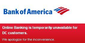 Bank of America Website Down 2011