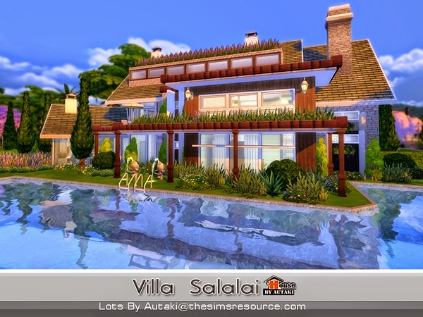 Casa moderna villa salalai the sims 4 pirralho do game for Casas modernas sims 4 paso a paso