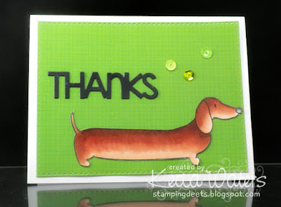 Urban Stamps, Kecia Waters, Copic markers, dachshund
