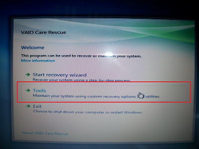 Hướng dẫn Recovery Sony Vaio  Windows 8