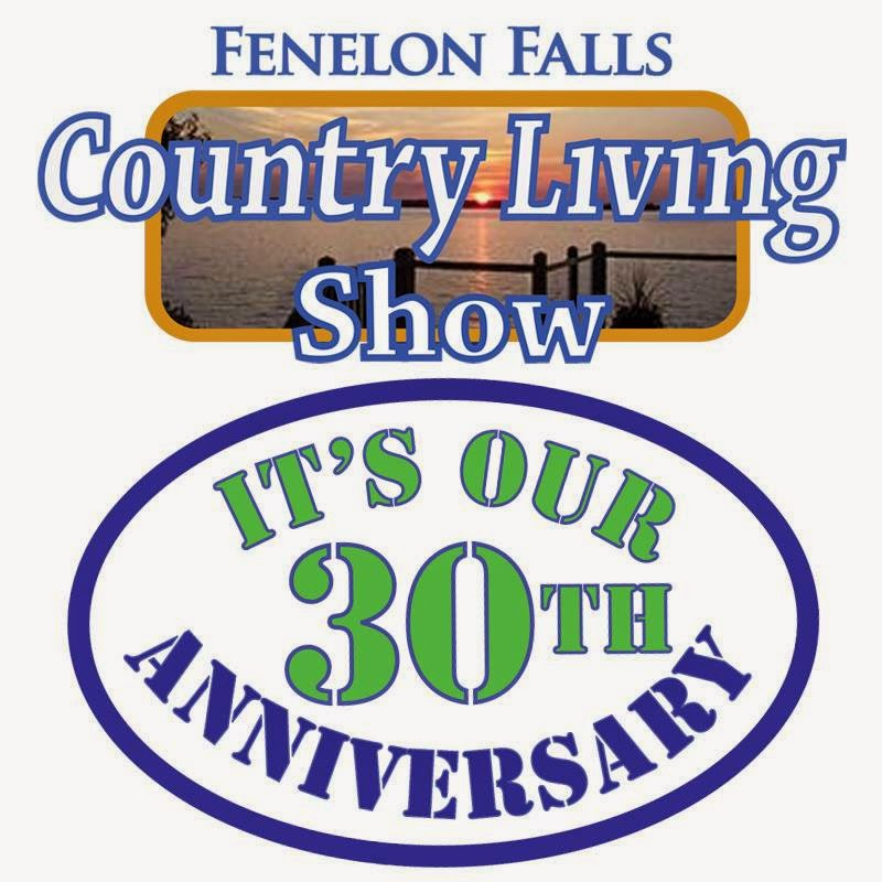 Fenelon Falls Country Living Show 30th Anniversary Logo Kawartha Lakes Ontario May 2 2014, May 3 2014,May 4 2014