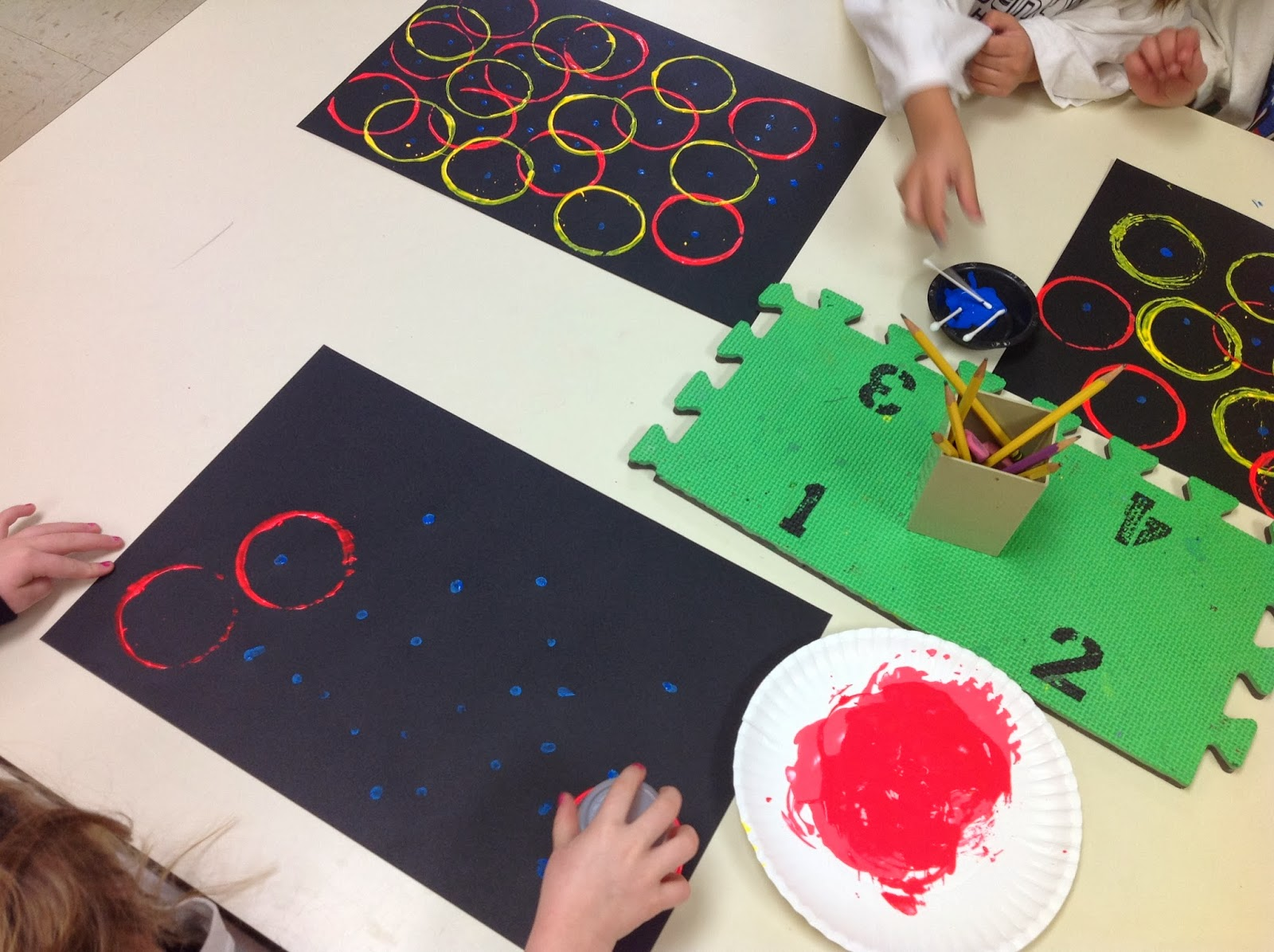 Splats, Scraps and Glue Blobs: Color Robots - Kindergarten Collage ...