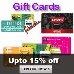 Amazon: Buy Gift Cards upto 40% off | O2 Spa Gift Card Rs. 3000 GV at Rs. 1080 Via Amazon