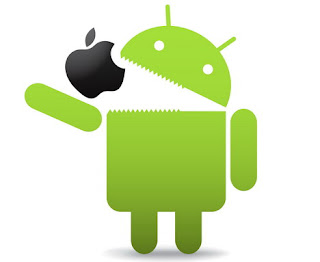 Android Swallowing Apple