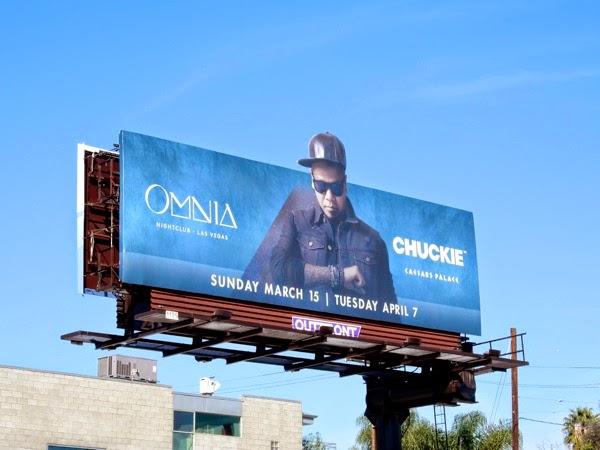 Chuckie Omnia nightclub Caesars Palace billboard