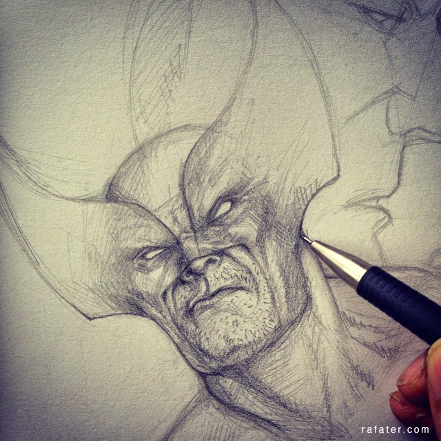 Wolverine sketch by rafater