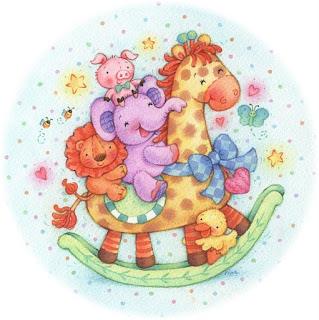 Animales para baby shower for Laminas infantiles para imprimir