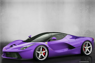 ferrari laferrari purple