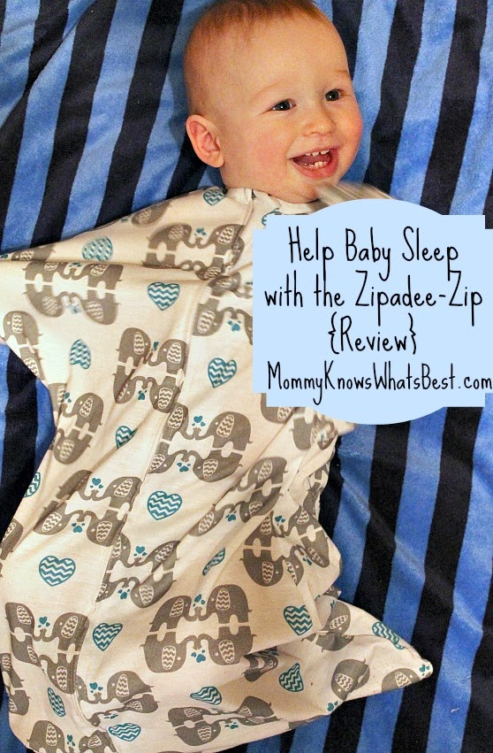 Help Baby Sleep with the Zipadee-Zip {Review} (Mommy Knows What's Best)