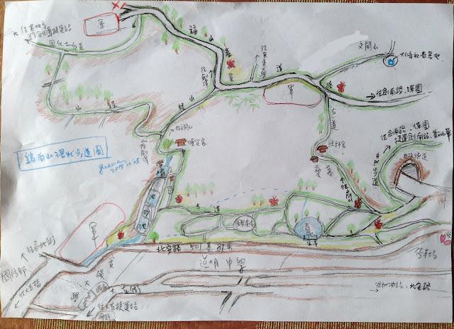 雞南山環山步道路線圖
