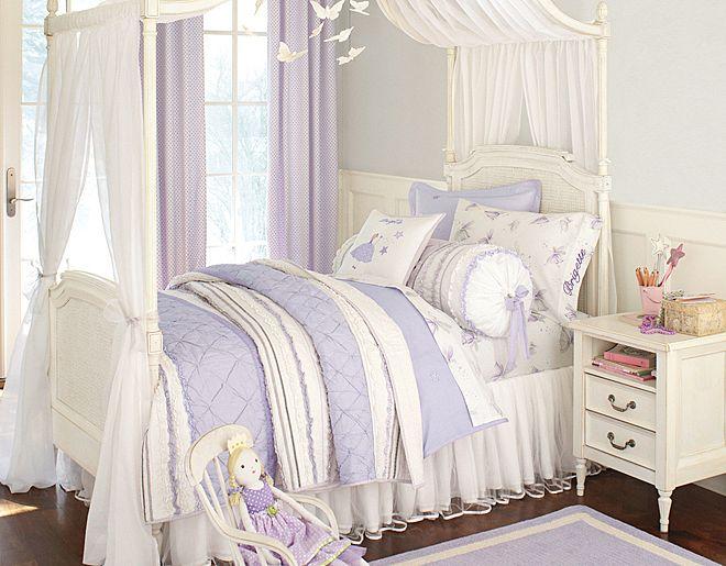 Dormitorios para niñas soñadoras decorados en color lila ...