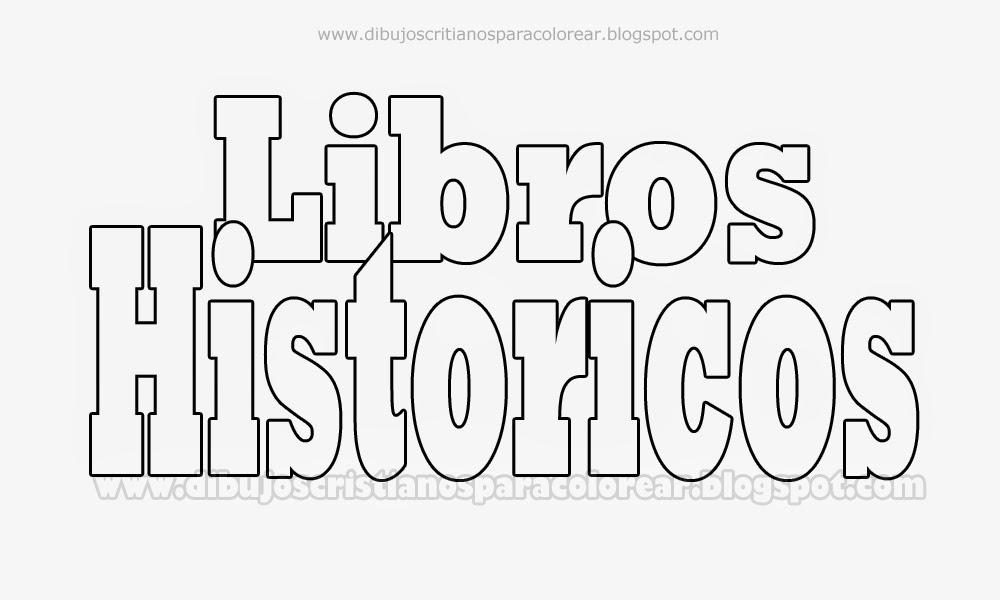 Libros Historicos para colorear - Dibujos Cristianos ~ Dibujos ...