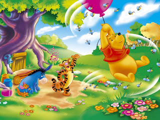 Winnie Pooh volando