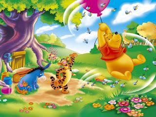 Winnie Pooh volando