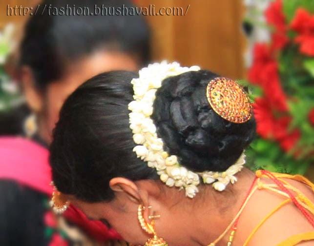 WEDDING DIARIES Reception Attire Hairstyle Fashion Panache - Bun hairstyle for reception