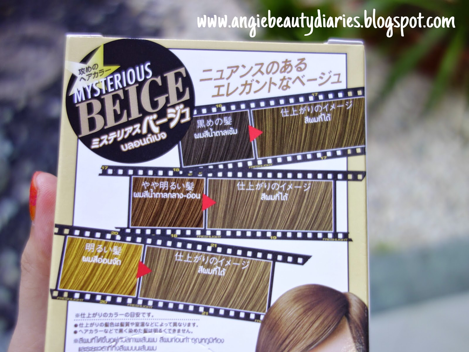 Angie beauty diaries review schwarzkopf fresh light hair the left one is the instruction how to use the hair coloring which written in thai language and the right one is the color chart nvjuhfo Images