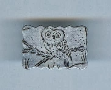 Silver Owl Brooch