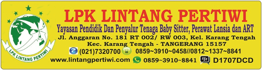 LPK LINTANG PERTIWI//Yayasan Baby Sitter dan PRT Ciledug Tangerang