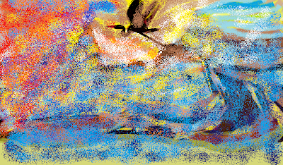 طرح فرشينه غرقه دررنگ های غروب - طرح از زری اصفهانی آنسوی شب - روز نوشت ها -شعرها و نقاشی ها و ترجمه های زری اصفهانی