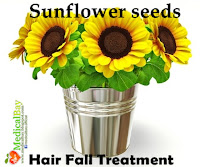 Sunflower seeds Hair loss treatment, Seed sunflower hair fall loss remedy and treatment
