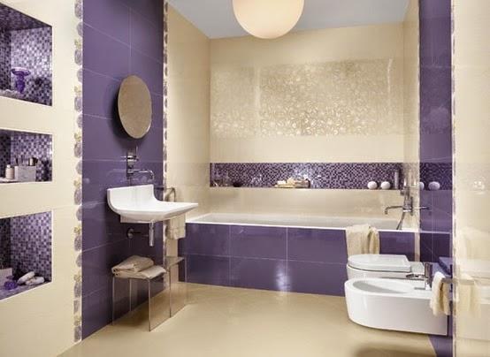 Fotos ideas para decorar casas for Azulejos bano morado