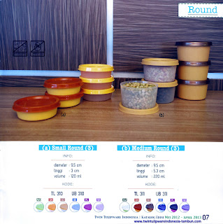 Info & Harga Twin Tulip Tulipware 2014 : Small Round - Medium Round
