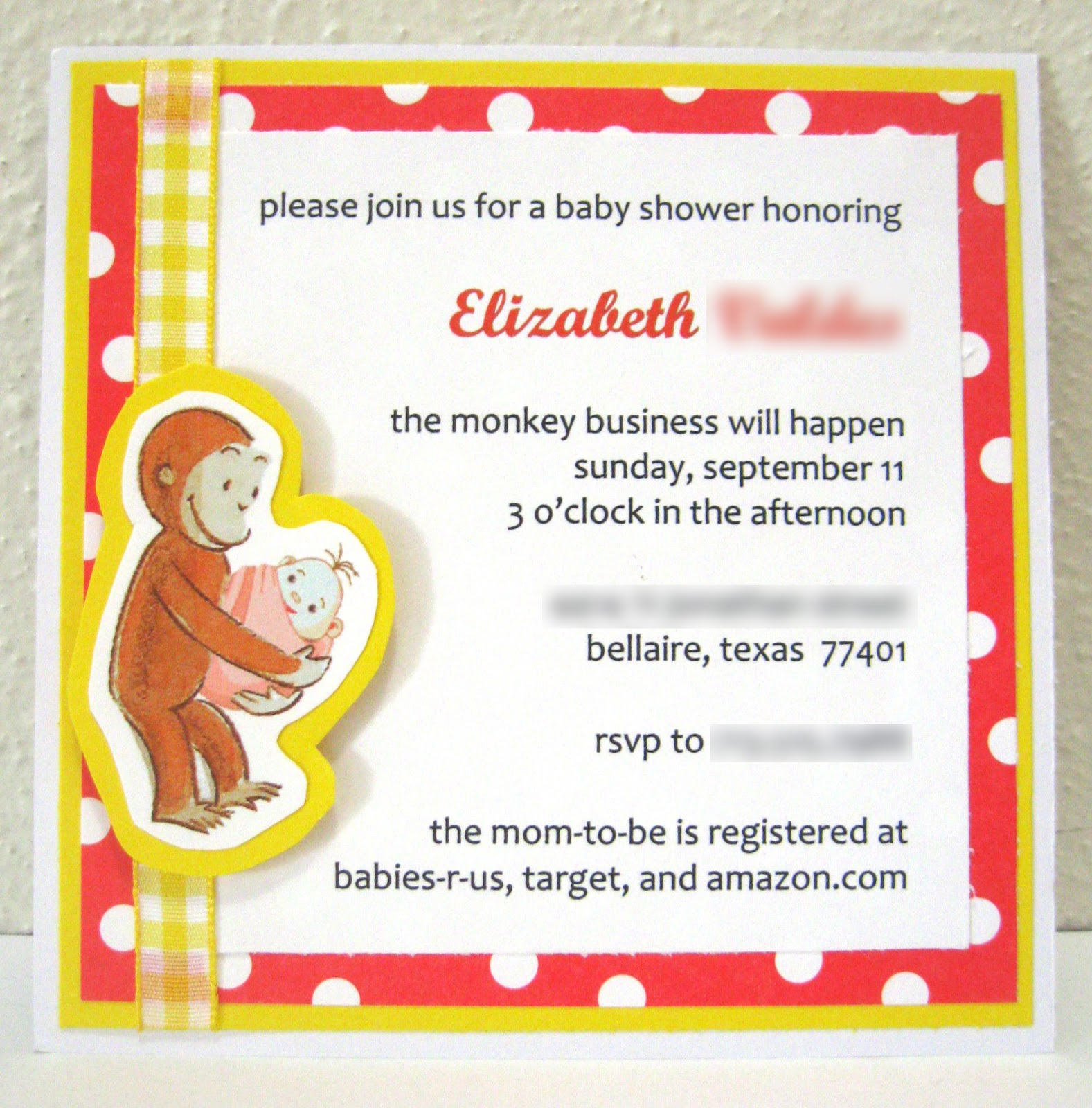 Cutting after dark curious george baby shower invitation heres the first invitation i produced this morning filmwisefo