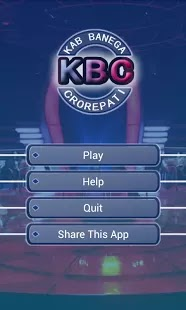 Kaun Banega Crorepati 2013 (KBC 2013) Quiz game for your Android devices for free