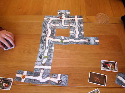 Saboteur - The Green team of dwarves got to the gold, sadly I was on the Blue team