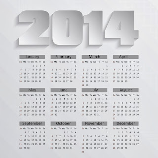 Free printable calendar 2014 impressive number 2014 design very high resoluteion