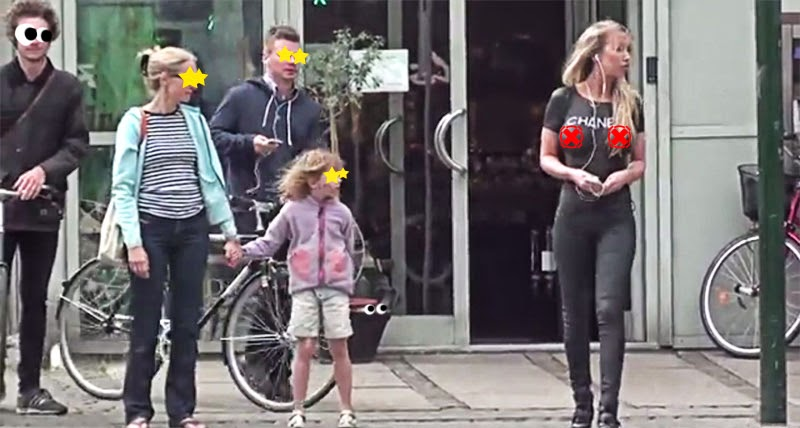 You wont believe how this model actually walked the street
