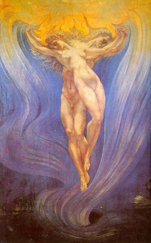 Tempera et huile sur toile de Jean Delville