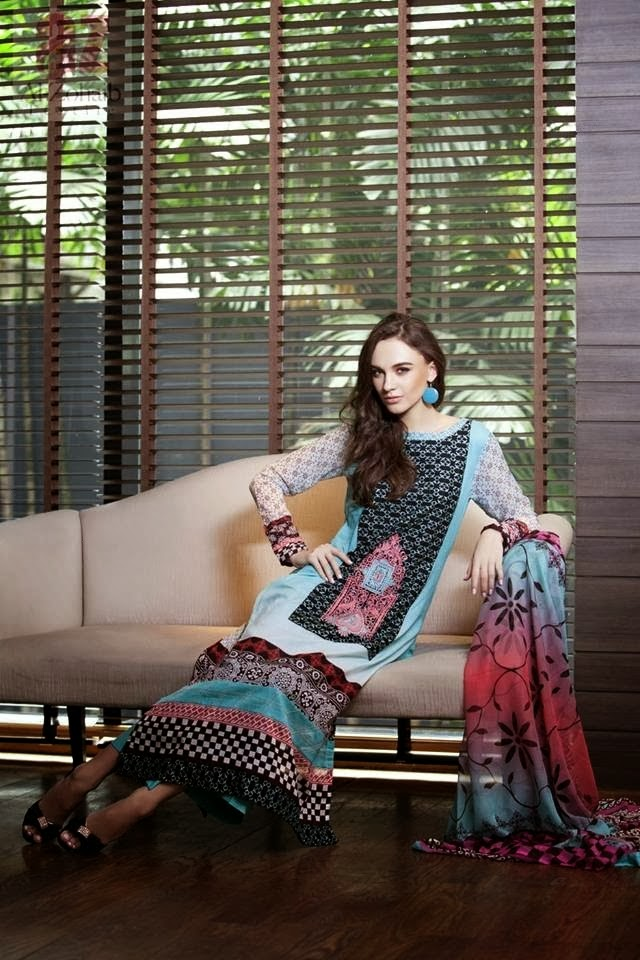 Mahnoor Latest Lawn Collection 2014