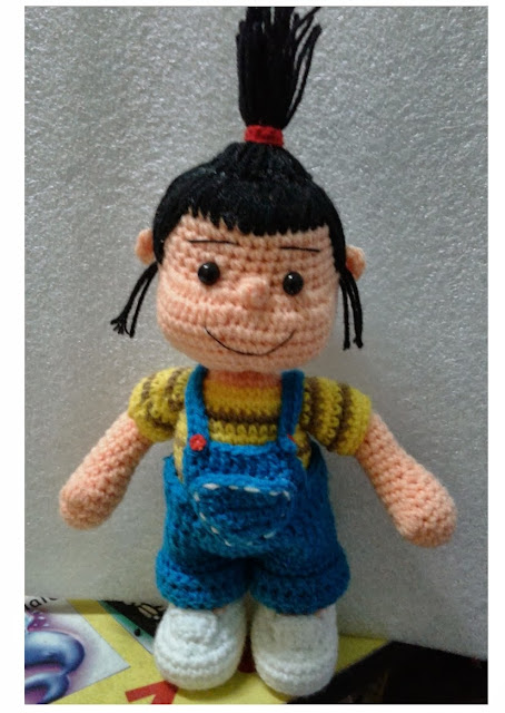 Crochet Agnes Doll amigurumi Despicable Me Movie Girl doll cute gift pattern idea amazing