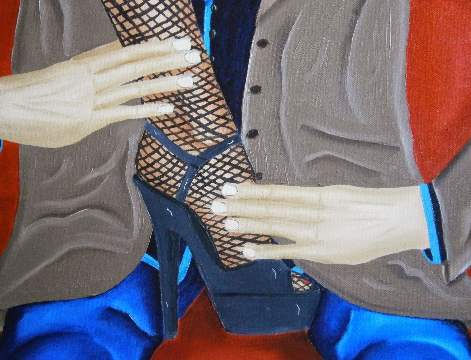 A close up of the painting Mr. Submissive