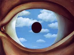 Rene Magritte's The False Mirror