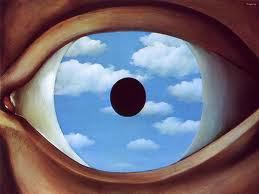 Rene Magritte's The False Mirror