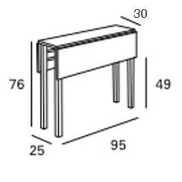 medidas mesa cocina consola pol estrecha