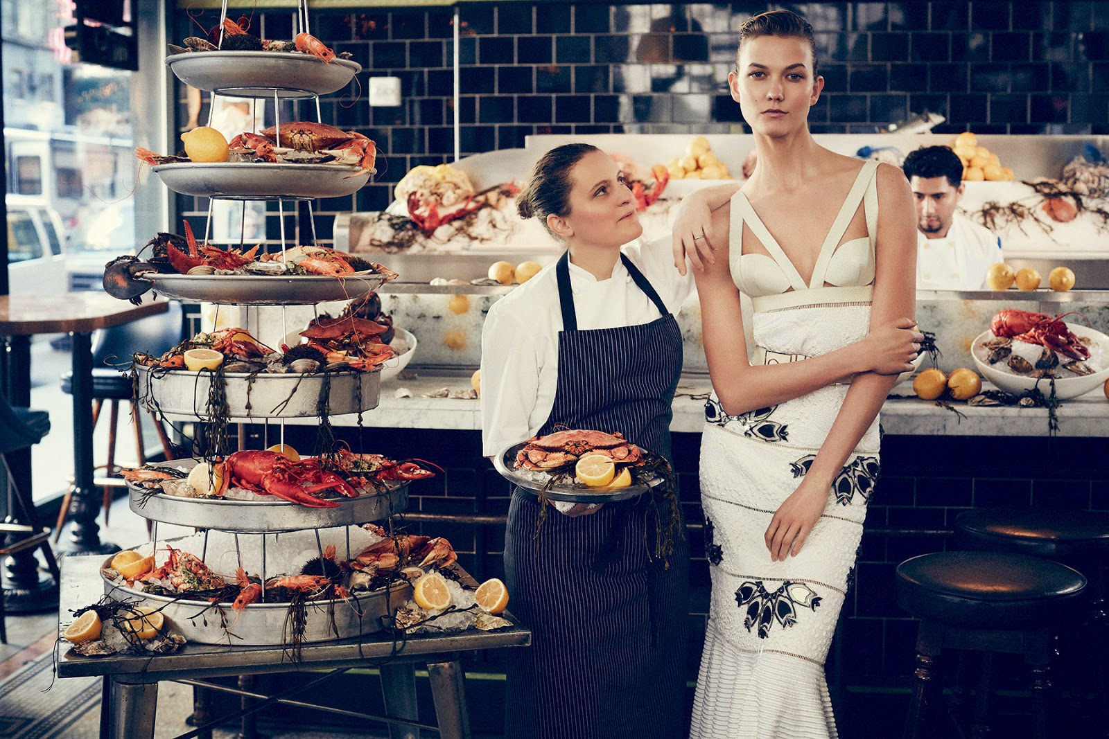 Food, Fashion Model: Karlie Kloss - Vogue US March 2015