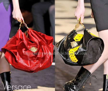 чанти от велур и кожа Versace