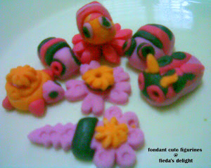 cute fondant figurines