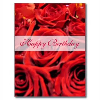 Imagenes de Cumpleaños con Rosas Rojas, parte 2