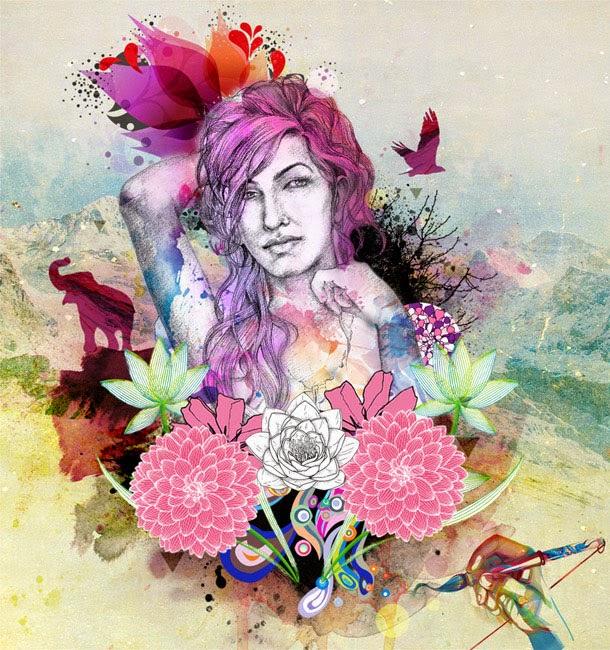 Watercolor Artwork Photoshop Tutorial