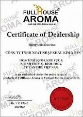 Giấy chứng nhận Phân phối độc quyền của FullHouse Aroma