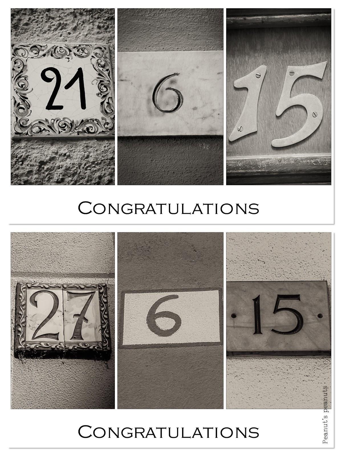 Congratulations – Glückwunschkarten zur Hochzeit und Ordination ...
